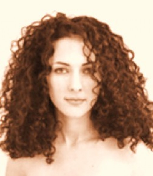 Mavie Marcos with her long curly hair
