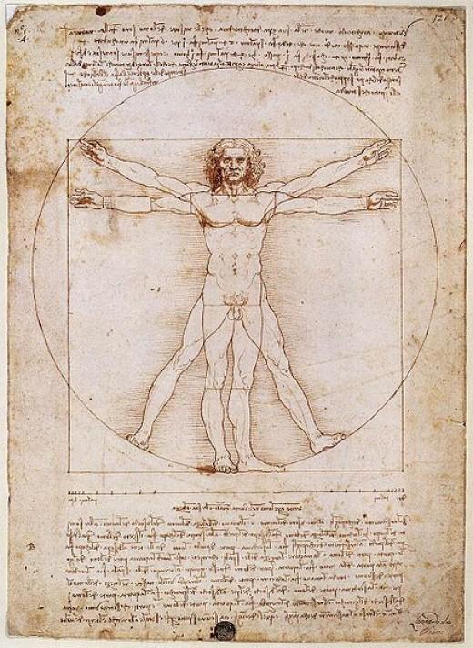Vitruvian Man, 1492