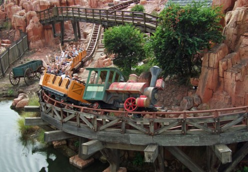 The train ride at Big Thunder Mountain is one of the most thrilling rides the park has to offer