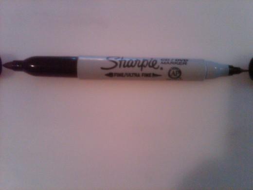 Sharpie marker - fine and ultra fine