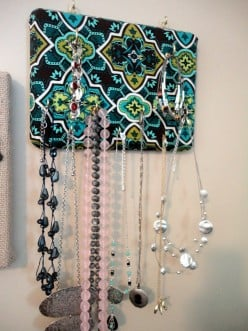 How to Make Your Own Wall-Mounted Jewelry Organizer