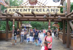 The entrance to Adventure Land