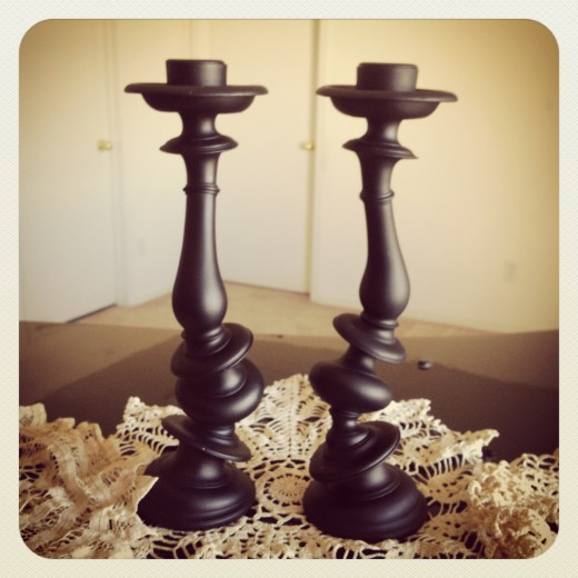 Black Distortion Candlesticks By Paul Loebach