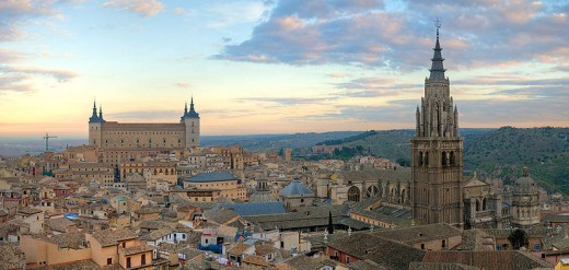 Toledo, Spain, the original capital city of Spain.
