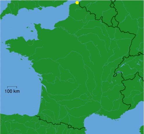 Map location of Dunkirk