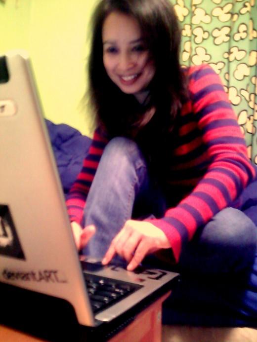 Me facebooking!