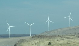 Wind Mills producing Electricity for what is part of the electrical grid
