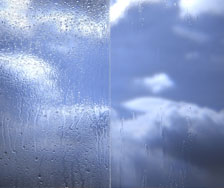 Comparison of normal glass and self-cleaning glass