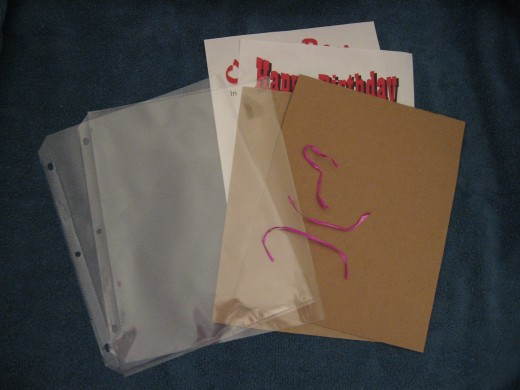 Materials to assemble into card