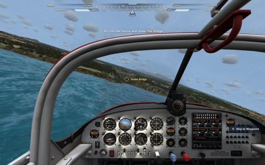 Cockpit View from a DLC aircraft
