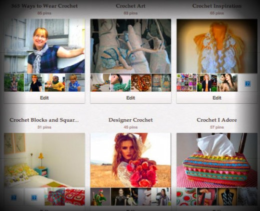 Screenshot of my personal Pinterest