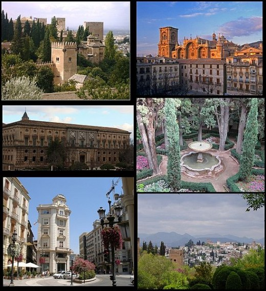 The sights of Granada, Spain.