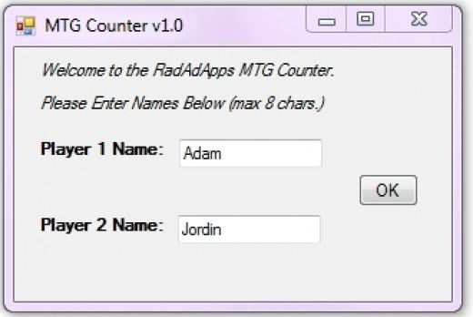 The Enter Name Screen