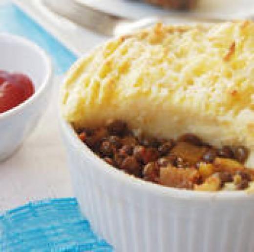Vegetarian Shepherd's Pie (with lentils)