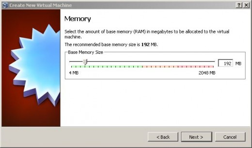 Choosing how much RAM to allocate to Windows XP Pro in a VM