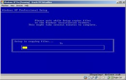 Setup copying Windows installation files to the hard disk image