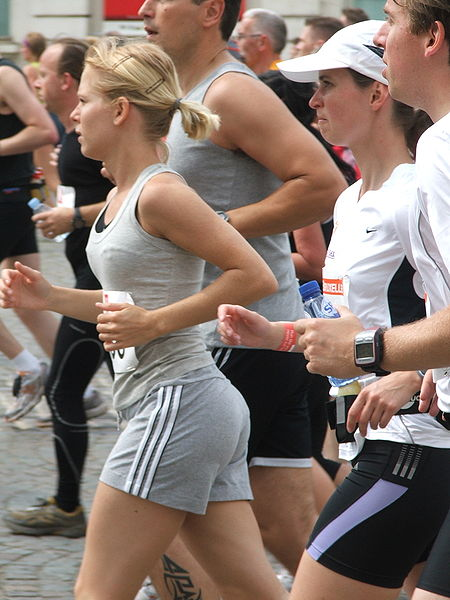 Runners are everywhere! Source: Björn Láczay, Wikimedia Commons, CC BY 2.0.
