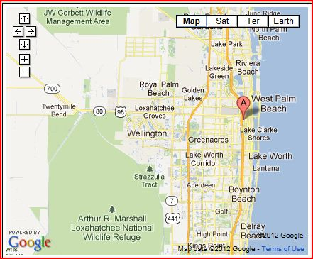 The zoo is located just off I-95 at 1301 Summit Blvd. in West Palm Beach, Florida.
