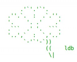 Good Luck ASCII Text Art: Lucky Clover and Horseshoes