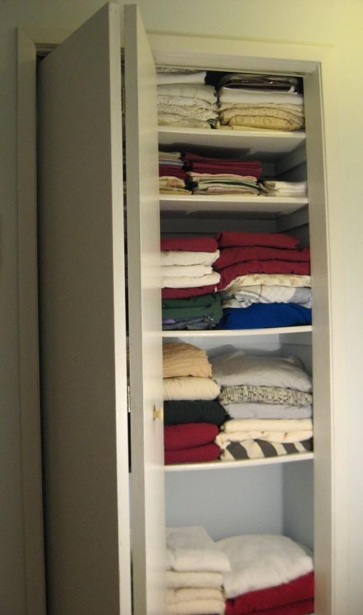 Newly Painted Linen Closet