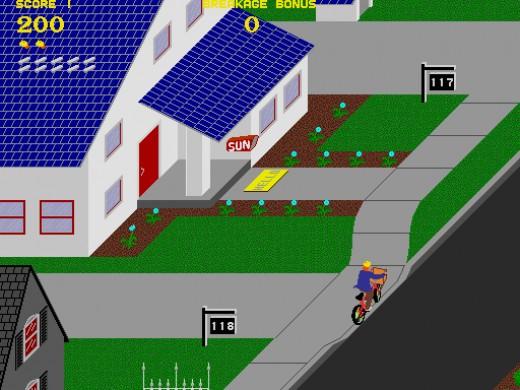 Paperboy Arcade Gameplay