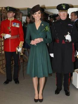 Duchess Kate at Aldershot Barracks on St. Patrick's Day