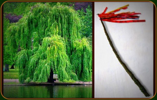 If you are skilled, you can braid Pomlazka from willow branches.