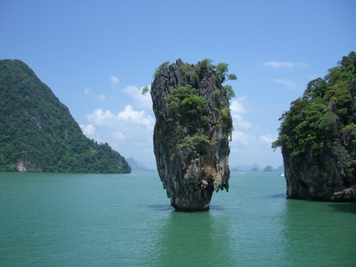 The most recognizable rock on Phang Nga Bay
