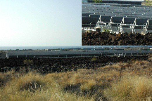 When on vacation - check out the solar field right next to Kona International Airport