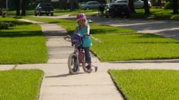 Ride bikes.