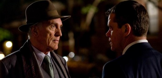 Terence Stamp and Matt Damon in The Adjustment Bureau (2011)