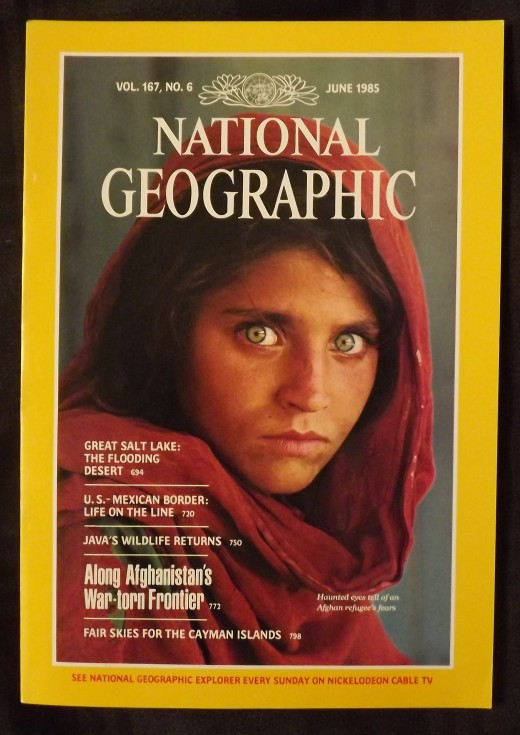 June 1985 National Geographic  The Girl With the Haunting Green Eyes