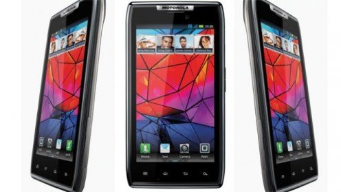 The Droid Razr is roughly 1/4-inch thick and features a display that's just under 4 1/2 inches.