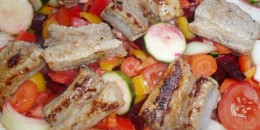 Easter pork ribs with vegetables