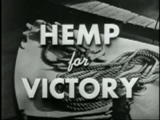 Title screen of the film Hemp for Victory from 1942.