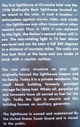 An explanation of the Ocracoke Lighthouse history.