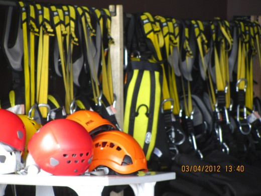zipping gear at Hoyohoy Highland Park