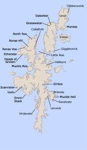 Shetland locations - the islands are closer to Bergen in Norway than Edinburgh. Part of the dowry of Anne who married James VI of Scotland. With Orkney came Shetland and Lewis