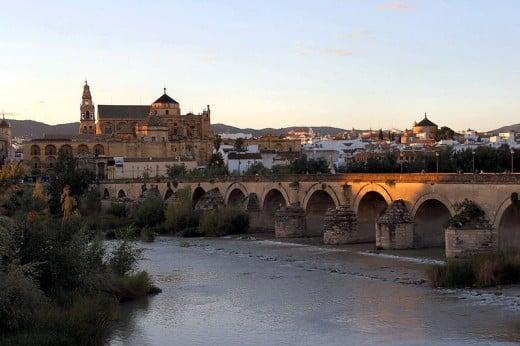 Roman bridge and city of Cordoba.