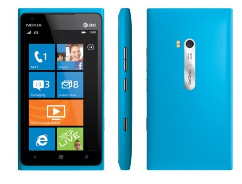 The Nokia Lumia 900 smart phone runs the Windows Phone Mango operating system and runs on a 1.4 megahertz processor.