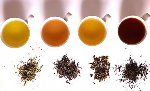 The four basic tea processes make white, green, oolong and black teas.