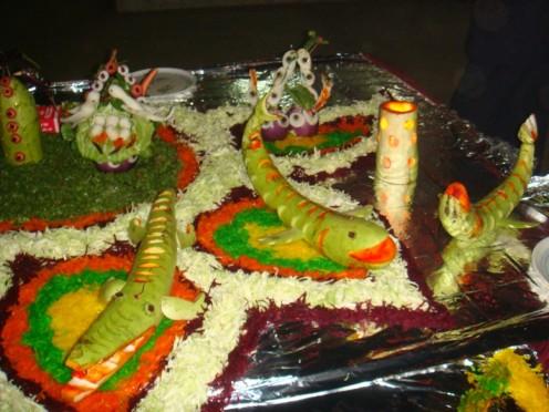 Flora & fauna in salad