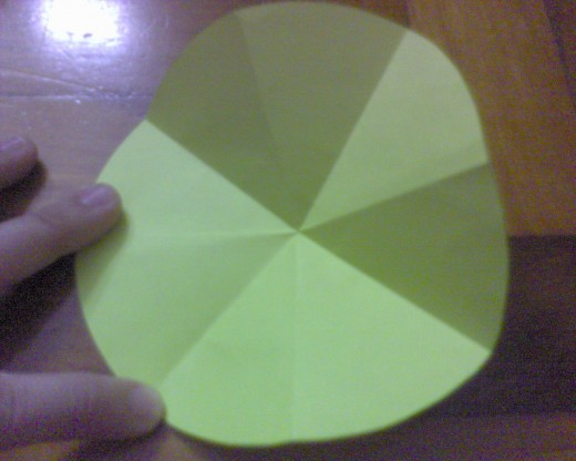 fold the same way for the yellow paper