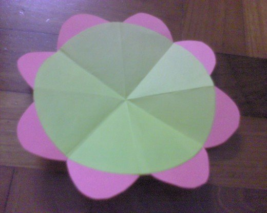 cut out the flower petals shape