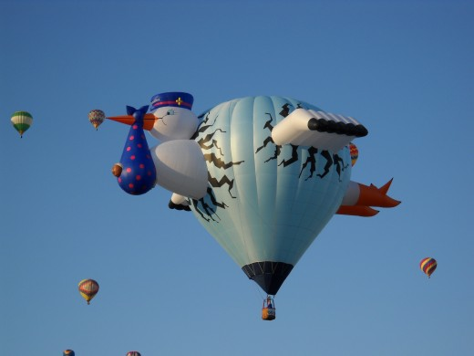A special shape stork balloon.