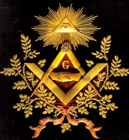 Freemasonry Symbol with Pyramid and Eye