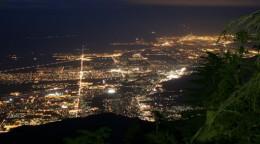 Palm Springs at night