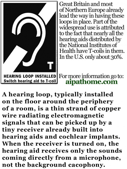 For more information on Hearing Loops, go to: aipathome.com