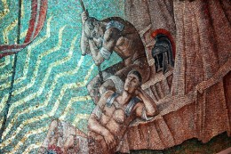 Photo 3 - From the Resurrection Chapel at the National Cathedral.  I thought this was great, with the Roman soldiers sleeping.  I love mosaics,and this one is amazing.