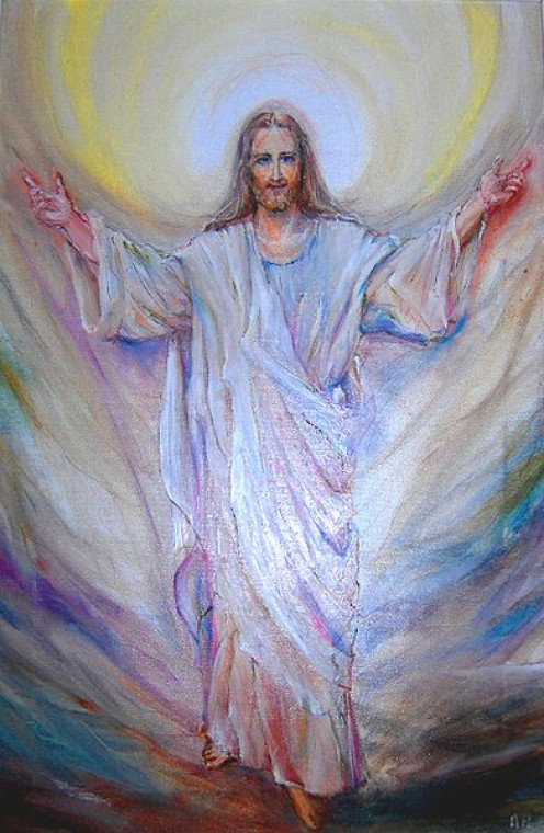 Jesus in one of many artist's depictions of him.